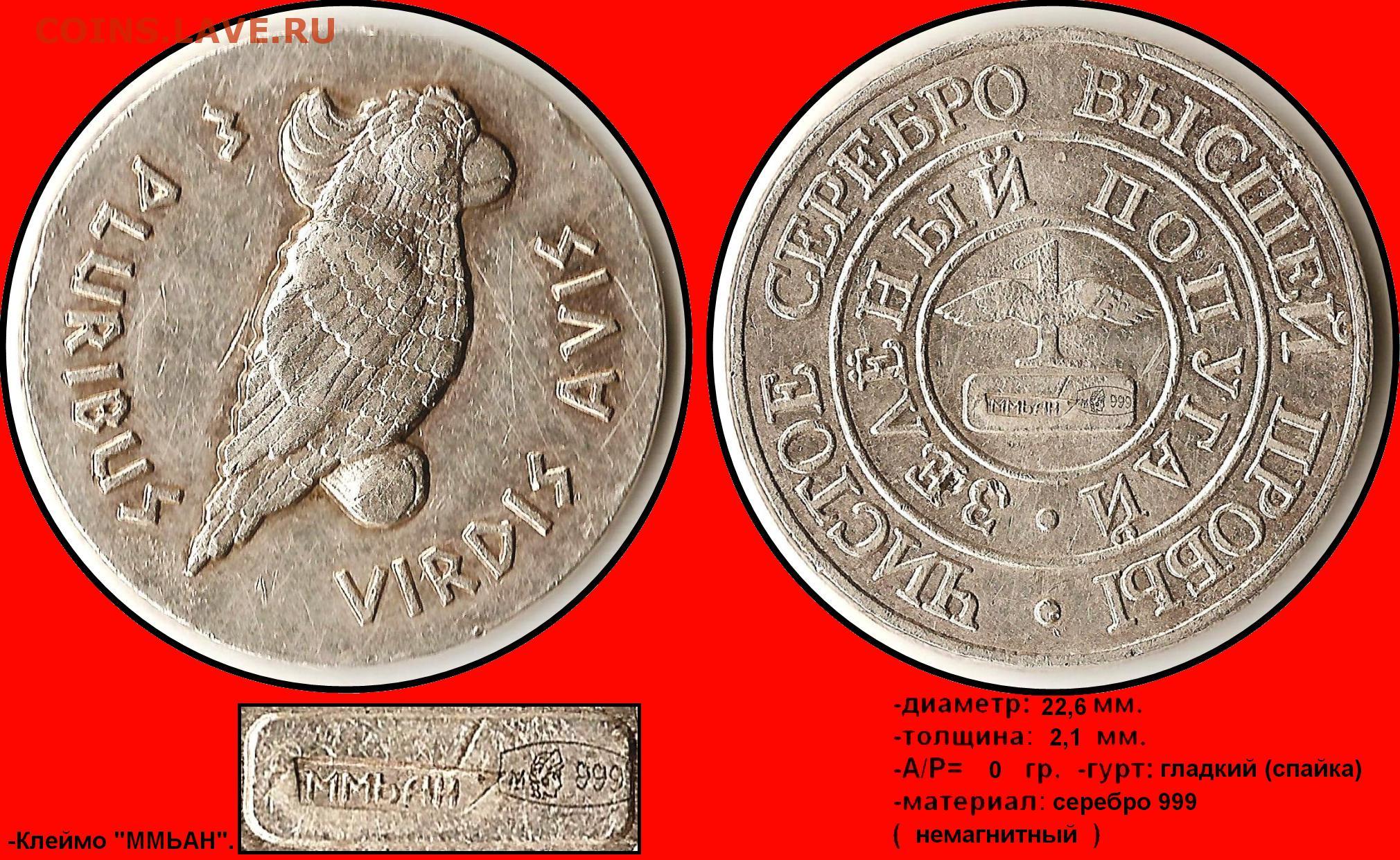 Зеленый попугай монета поделки из 10 рублевой монеты