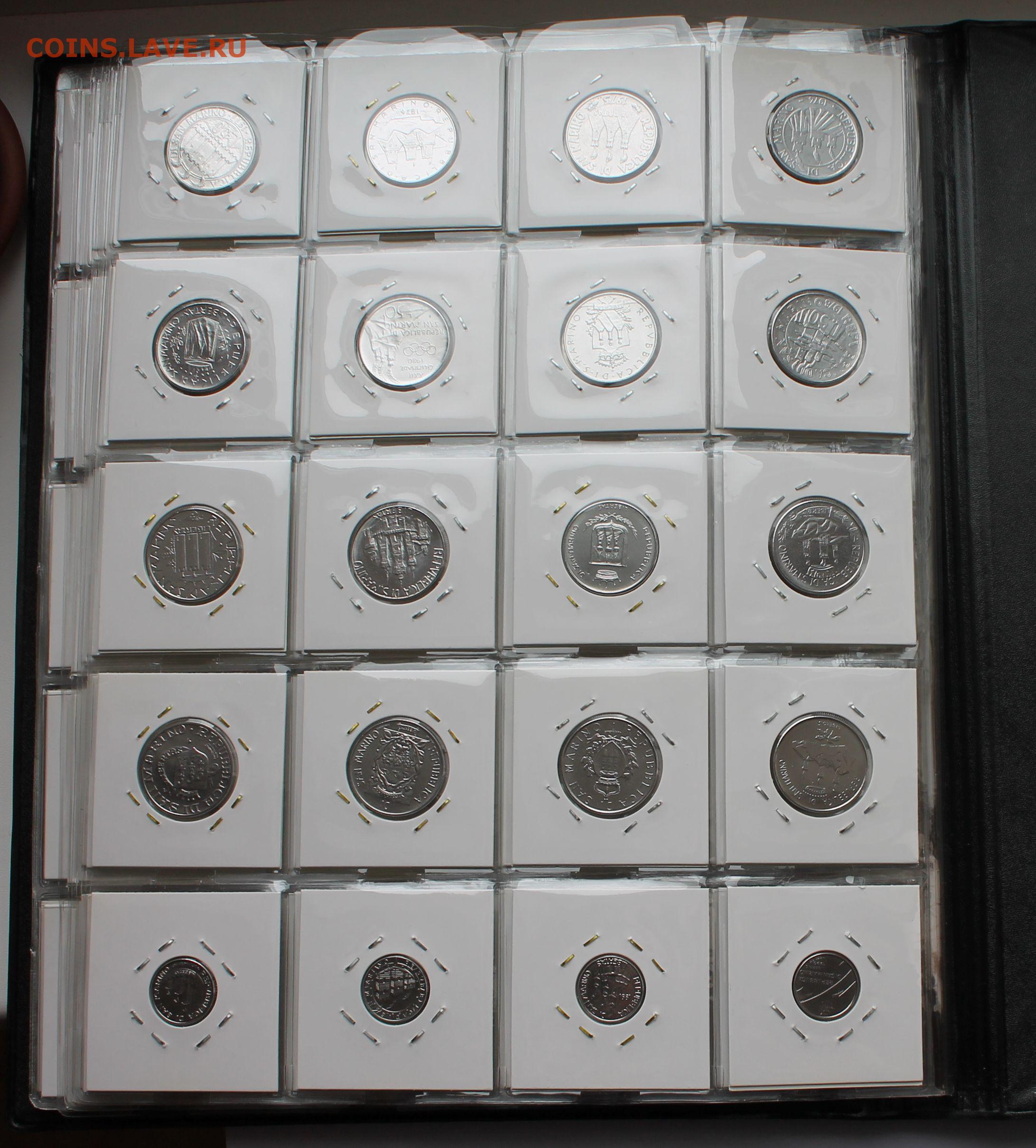 Оценить коллекцию монет чентезимо