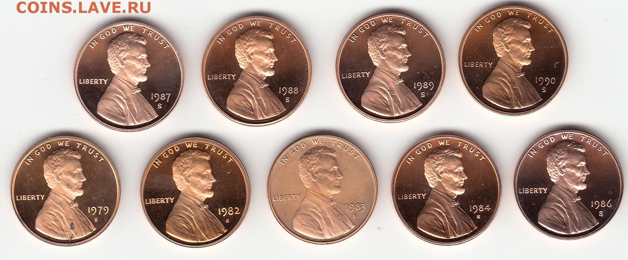 Монеты сша (вроде как небольшой каталог всех монет сша) - мо.