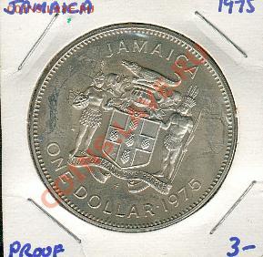 Ямайка. 1 доллар 1975 года. Пруф - Jamaika2