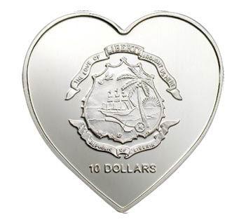 Нужны монеты в форме сердца - Сердце Либерия 10 дол