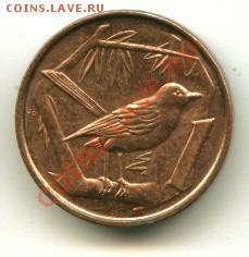 1 цент Кайманы птица, блеск до 03.10.2013 22-00мск - 25