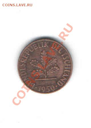 ГЕРМАНИЯ 1 ПФЕНИНГ 1950 Г. ДО 6.12 - 1113