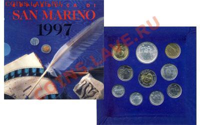 КИНЕМАТОГРАФ на монетах и жетонах - Са-Марино - годовой набор 1997 -
