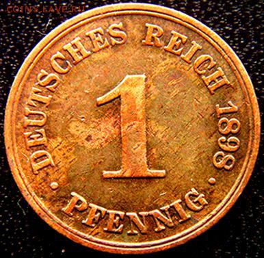 Германская Империя_1 пфенниг 1898(А); до 27.04_22.44мск - 10916