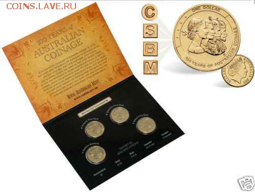 Блокада29р Конституция 95Ну погоди450Армия320,1е муль1050 - 2010 Australia Mintmark and Privymark $1 Uncirculated Four Coin Set 1- 25