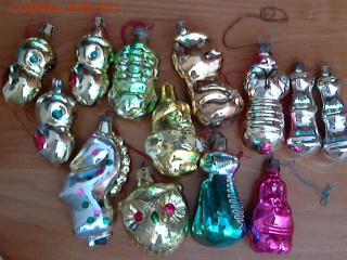 Елочные игрушки советского образца. - игрушки-2