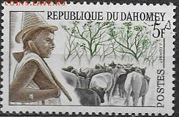 Марки Африки. ФИКС - ФИКС. Марки Африки. Республика Дагомея. Овцы
