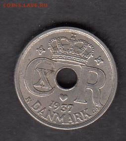 Дания 1937 10о - 61а