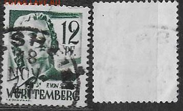 Германия Союзная оккупация 1947. ФИКС Mi DE-FWH 4 Шиллер (1) - DE-FWH 4 (1)