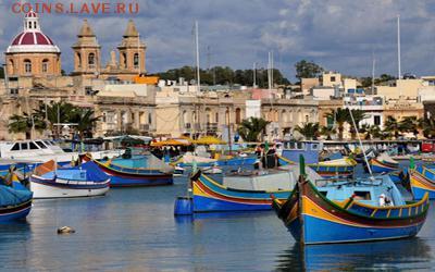 Монеты с Корабликами - Мальта