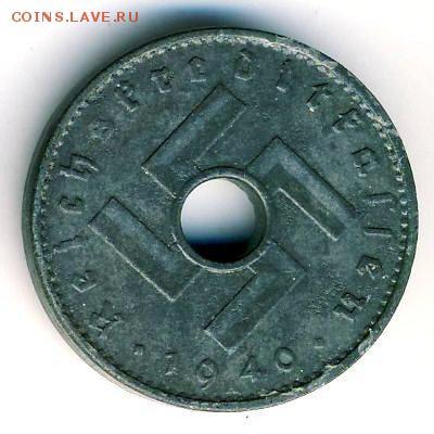Монеты с отверстием в центре - 10-Reichspfennig-1940-2
