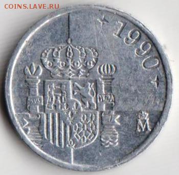 Испания 1 песета 1990 г. до 24.00 09.05.19 г. - 026