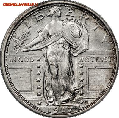 25 ЦЕНТОВ США СВОБОДА 1916-1917 - 2