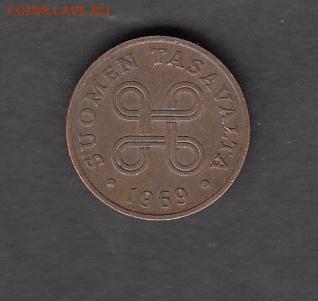 Финляндия 1969 1 пенни с рубля до 18 08 - 171а