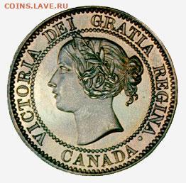 Канада. Монеты периода правления королевы Виктории 1858-1901 - musee-1-cent-1859