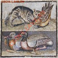Кошки на монетах - __фрагмент старинной фрески из пригородной виллы Рима
