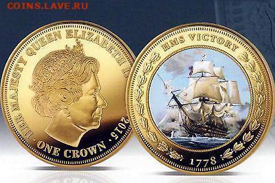 Монеты с Корабликами - 2015 1 крона Виктори.JPG