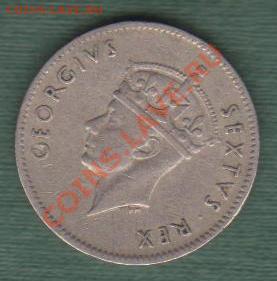 """Британская Восточная Африка, Пол Шиллинга 1949 """"Лев"""" (04.10) - Приват 001"""