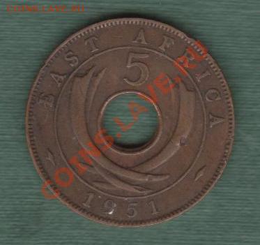Британская Восточная Африка, 5 Центов 1951 (30.04) - e11