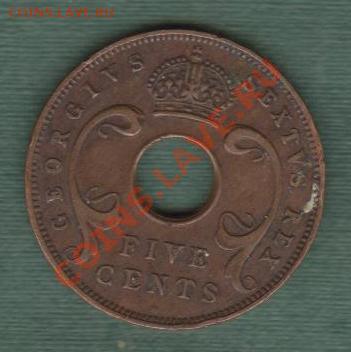 Британская Восточная Африка, 5 Центов 1951 (30.04) - e12