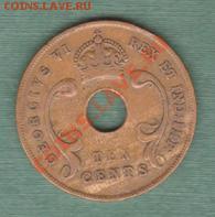 Британская Восточная Африка, 10 Центов 1951 (04.10) - s10