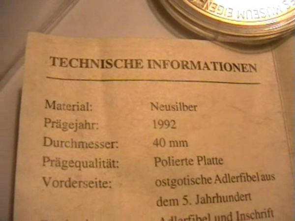 памятный жетон германия - FGG