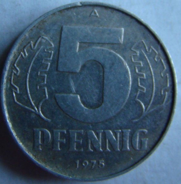 пфенинг 1975г - 1р