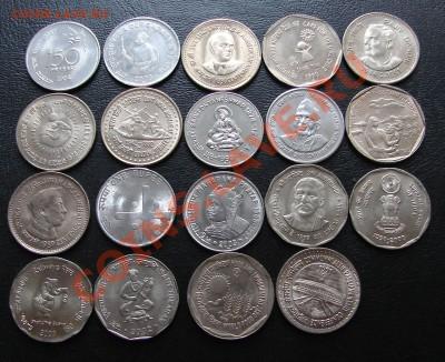 наборы иностранных монет в отличном состоянии - Индия 18 1 и 2 рупии 1
