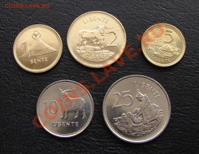 наборы иностранных монет в отличном состоянии - Лесото пять 1