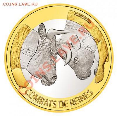 Самая красивая биметаллическая монета! - 2012_Ringkuhkampf_B