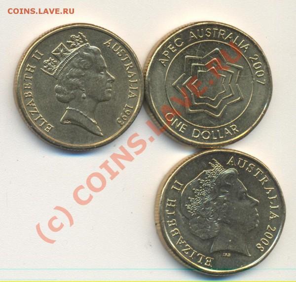 Лот монеты Австралии - австралия 002