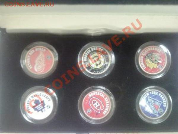 Набор квотеров США, Канада тема NHL - CSD0987