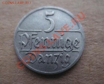 Данциг, 1928 г, 5 пф, предпродажная. - 28 дан