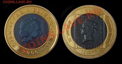 Самая красивая биметаллическая монета! - Гибралтар_ пол кроуна_2000_Блэк пенни_на Форум