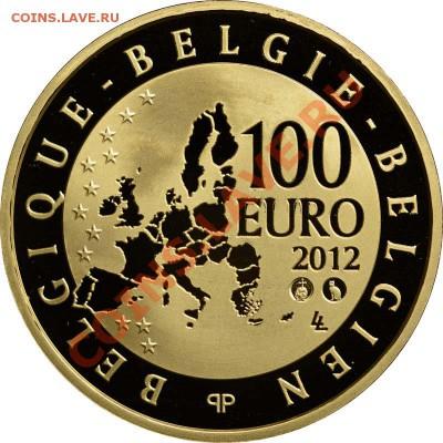 Кошки на монетах - Бельгия-2012-100-2