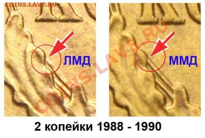 2копейки 1989год оценка. - 2 копейки 1988 - 90 ЛМД и ММД