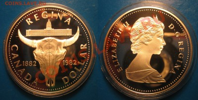 Оценка. Доллар.  Канада 1960 г. и 1982 г - регина (2).JPG