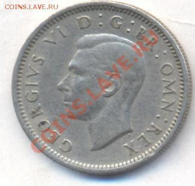 Великобритания 6 пенсов 1949 г. До 11.02.13 г. 21-00 МСК. - 49 1