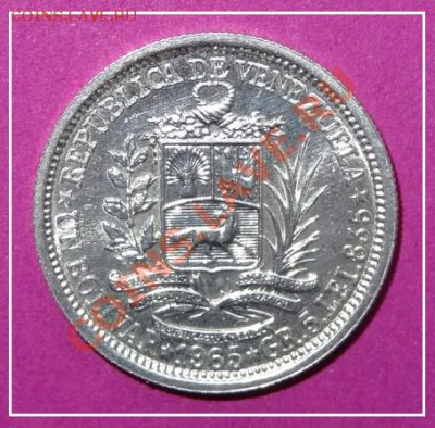 Венесуэла 1 боливар 1965 АНЦ до 14.02.13 в 22.00 - Венесуэла 1 боливар 1965 рев