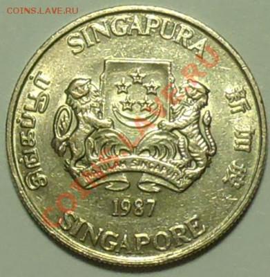СИНГАПУР - 20 центов 1987 - до 15 февраля - 200