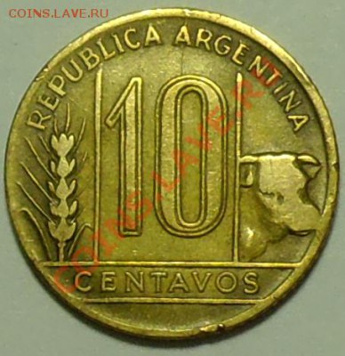 АРГЕНТИНА - 10 центаво 1944 - до 17 февраля - 404