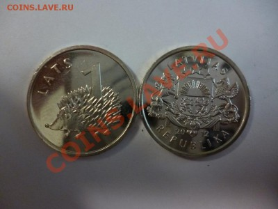 Латвия 1 лат 2012 Ежик(фикс - 90 рублей) 15.02 - P1000897.JPG