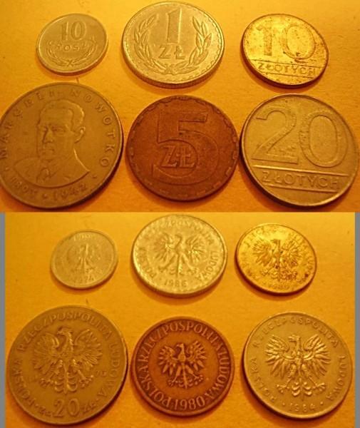 Монеты Польши, Франции, Германии и др. Прошу оценить - Польша монеты.JPG