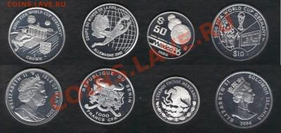 >L< 48 монет в СЕРЕБРЕ на тему ФУТБОЛ (оценка) - Футбол3