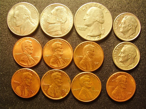 Оценитк кучку монет США - США Аверс