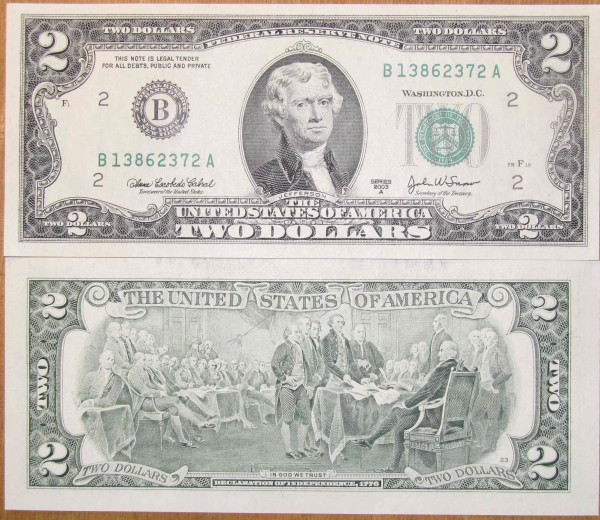2 доллара США 2003 - Безымянный