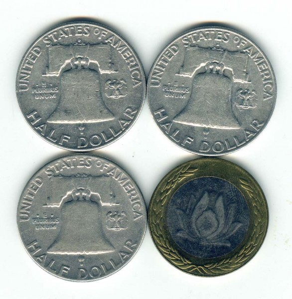 3 полудоллара США серебро + бонус - США_2