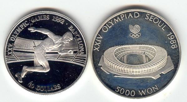 2 монеты в капсулах, пруф, тема Олимпиада - пруф 2