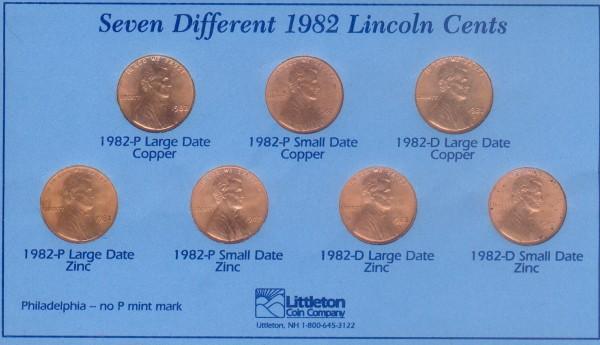 Оцените 2 монеты США по 1 центу 1932 и 1982 г.г. - центы 1982.JPG